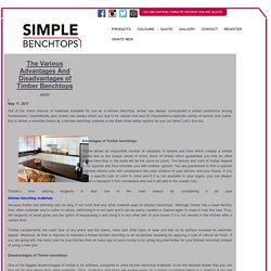 The Various Advantages And Disadvantages of Timber Benchtops