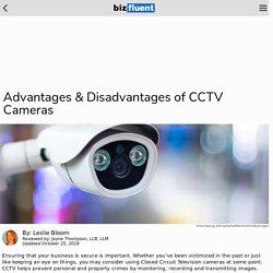 Advantages & Disadvantages of CCTV Cameras
