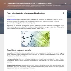Future without cash: the advantages and disadvantages