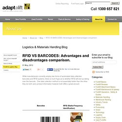 RFID VS BARCODES: Advantages and disadvantages comparison. - Logistics & Materials Handling Blog