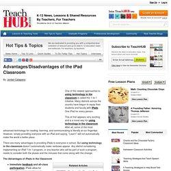 Advantages/Disadvantages of the iPad Classroom