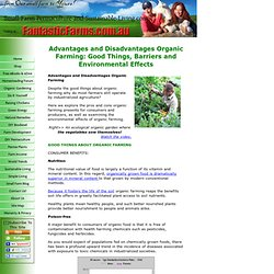 Advantages and Disadvantages Organic Farming: Its Pros and Cons