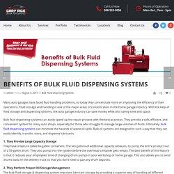 Advantages of Bulk Fluid Dispensing Systems