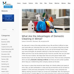 What Are the Advantages of Domestic Cleaning in Wirral? - Mohcky.com - Free Guest Posting Website