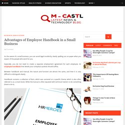 Advantages of Employee Handbook in a Small Business