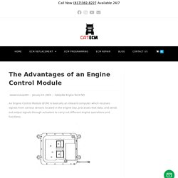 The Advantages of an Engine Control Module