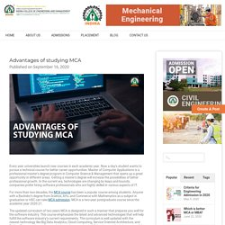 Advantages of studying MCA - Indira Group of Institutes