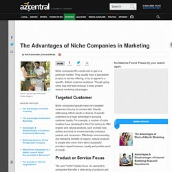 The Advantages of Niche Companies in Marketing