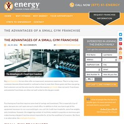 The Advantages of a Small Gym Franchise - Energy Premier Fitness Experience