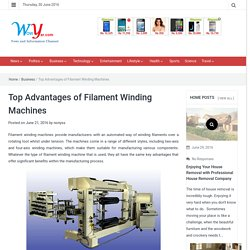 Top Advantages of Filament Winding Machines - wowyar