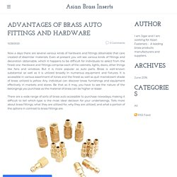 What are the advantages of brass parts for industrial use?