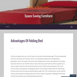 Advantages Of Folding Bed