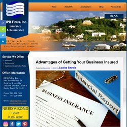 Advantages of Getting Your Business Insured