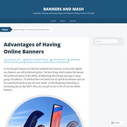 Advantages of Having Online Banners