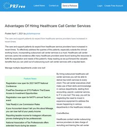 Advantages Of Hiring Healthcare Call Center Services