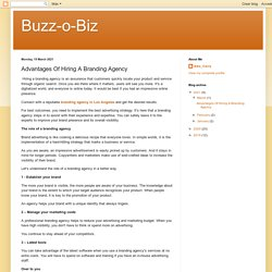 Advantages Of Hiring A Branding Agency