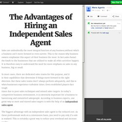 The Advantages of Hiring an Independent Sales Agent