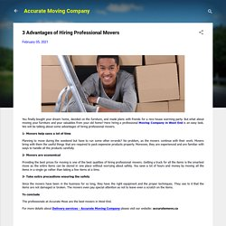 3 Advantages of Hiring Professional Movers