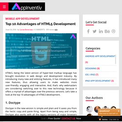 Top 10 Advantages of HTML5 Development