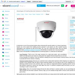 Advantages of Installing Security Cameras in a Retail Store