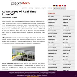 Advantages of Real Time EtherCAT - IntervalZero