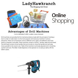 Advantages of Drill Machines – LadyHawkranch