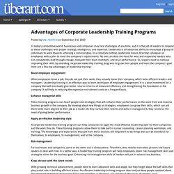 Advantages of Corporate Leadership Training Programs