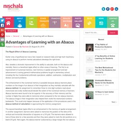 Advantages of Learning with an Abacus - Nischal's smart learning