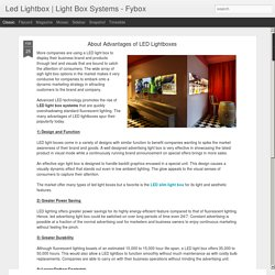 Light Box Systems - Fybox: About Advantages of LED Lightboxes