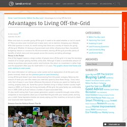 Advantages to Living Off-the-Grid
