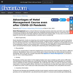 Advantages of Hotel Management Course even after COVID-19 Pandemic