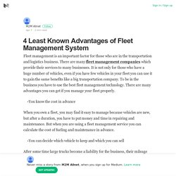 4 Least Known Advantages of Fleet Management System