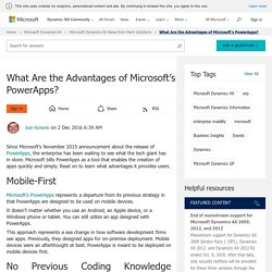 What Are the Advantages of Microsoft's PowerApps? - Microsoft Dynamics AX Community