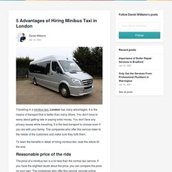 5 Advantages of Hiring Minibus Taxi in London
