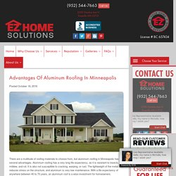 Advantages of Aluminum Roofing in Minneapolis
