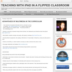 Advantages of multimedia in the curriculum