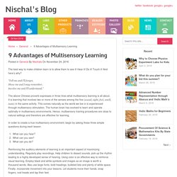 9 Advantages of Multisensory Learning