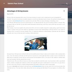 Advantages of driving lessons