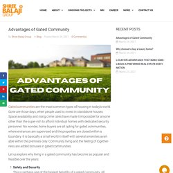 Advantages of Gated Community