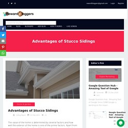 Advantages of Stucco Sidings