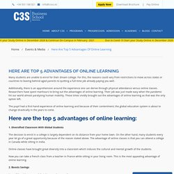 Here Are Top 5 Advantages of Online Learning