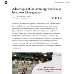 4 Advantages of Outsourcing Warehouse Inventory Management