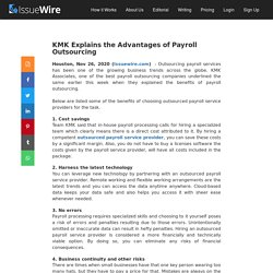 4 Benefits of Payroll Outsourcing