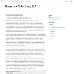 Shamrock Solutions, LLC: Advantages of Perceptive Software