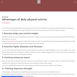 Advantages of daily physical activity