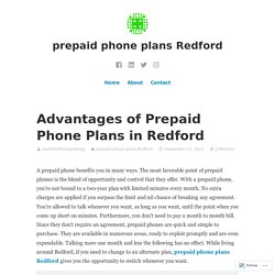 Advantages of Prepaid Phone Plans in Redford