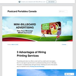 3 Advantages of Hiring Printing Services