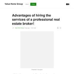 Advantages of Real Estate Broker