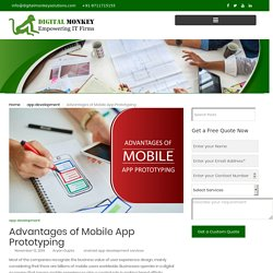 Advantages of Mobile App Prototyping