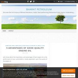 5 advantages of good quality engine oil - Bharat Petroleum